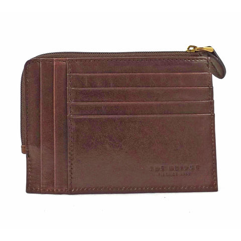 The Bridge Leather  Zip Round Credit Card Holder - Style: 01221601