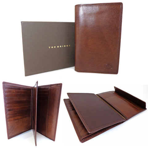 The Bridge Leather Document Holder Jacket Wallet - Style 01506601