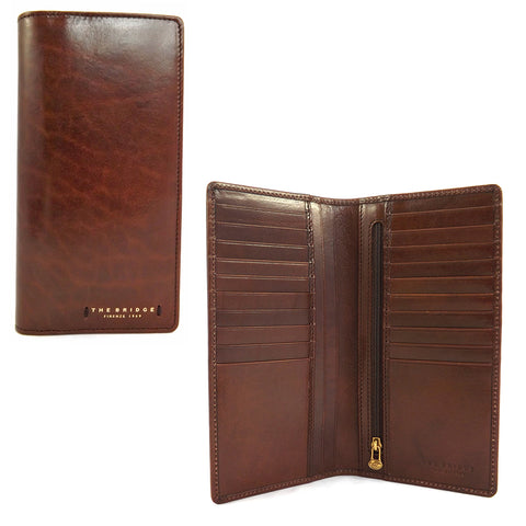 The Bridge Leather Document Holder Jacket Wallet - Style: 01580601