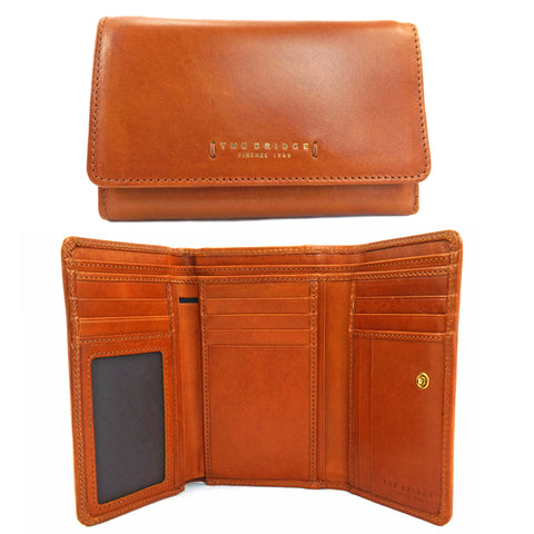 The Bridge Leather Wallet Purse - Tan - Style: 01781601