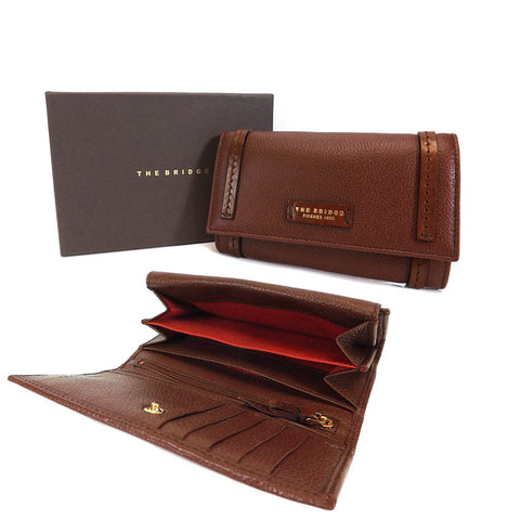 The Bridge Large Leather Wallet Purse - Style: 0180284O Brown