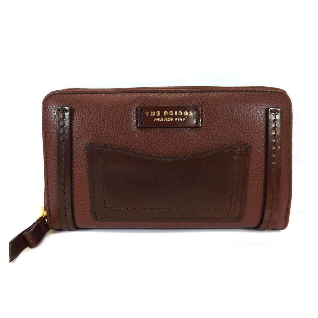 The Bridge Large Zip Around Purse - Style: 0180184O Brown