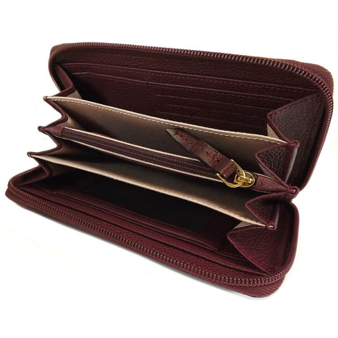 The Bridge Large Zip Around Purse - Style: 0180184O Burgundy