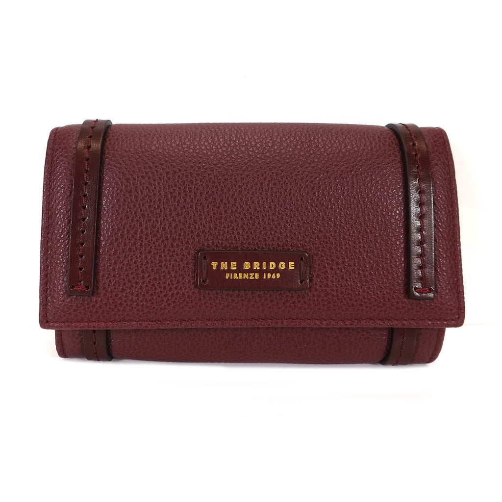 The Bridge Large Leather Wallet Purse - Style: 01802840 8K - Burgundy