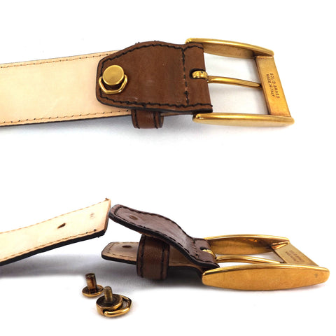The Bridge Gents Leather Belt - Style: 03621301 - Brown