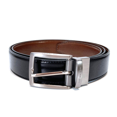 The Bridge Gents Reversible Leather Belt - Style: 03638201 - Brown / Black