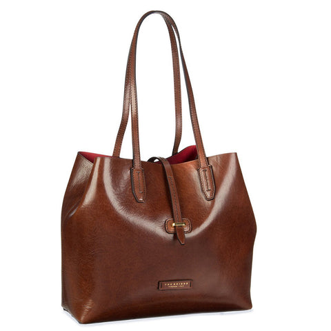 The Bridge Shoulder Tote Bag - Brown - Style: 04130701