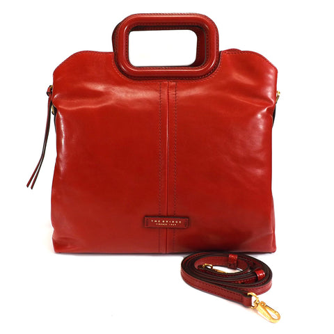 The Bridge Large Grab Handle Bag - Style: 0437594N - Red
