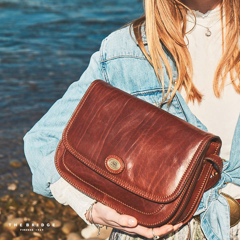 The Bridge Leather Saddle Bag - Style: 04415201