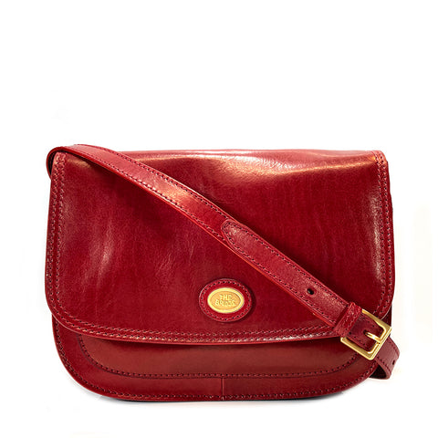 The Bridge Leather Saddle Bag - Red - Style: 04415201
