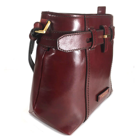 The Bridge Shoulder Bag - Style: 0458198W Ruby Red
