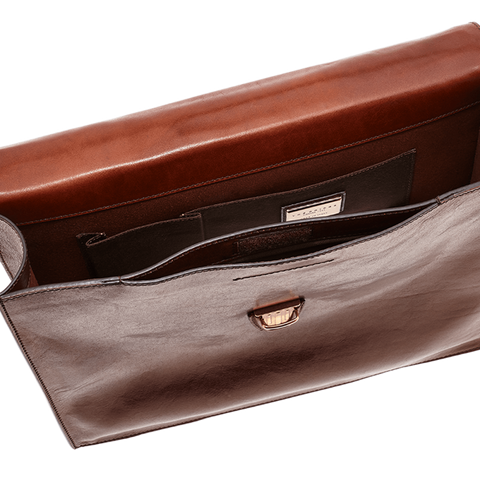 The Bridge Single Gusset Briefcase - Style: 06466501