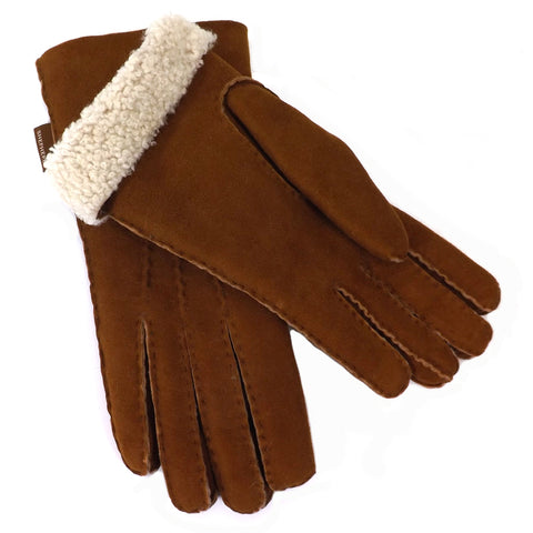 Shepherd Sheepskin Gloves - Style: Melina - Chestnut