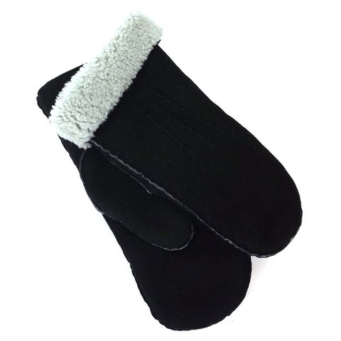 Shepherd Sheepskin Mittens - Style: Monika - Black