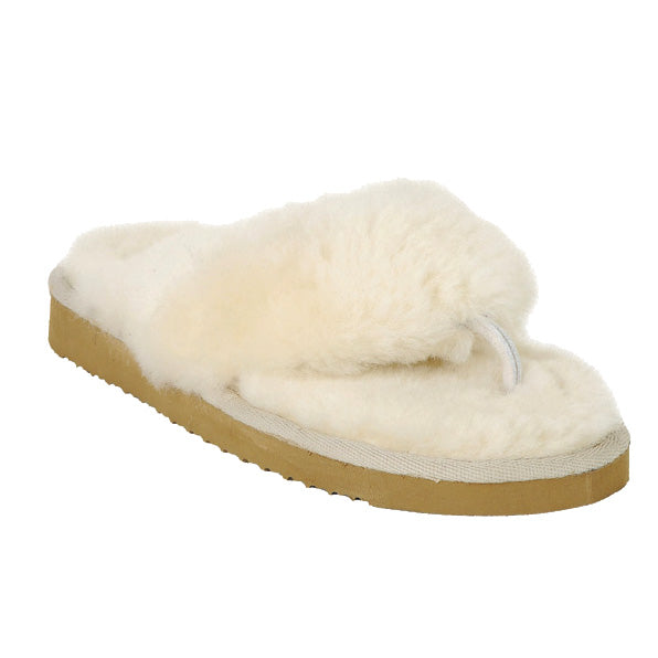 Shepherd Sheepskin Toe-Post Mule Slipper - Style: Pernilla 1558 - Creme