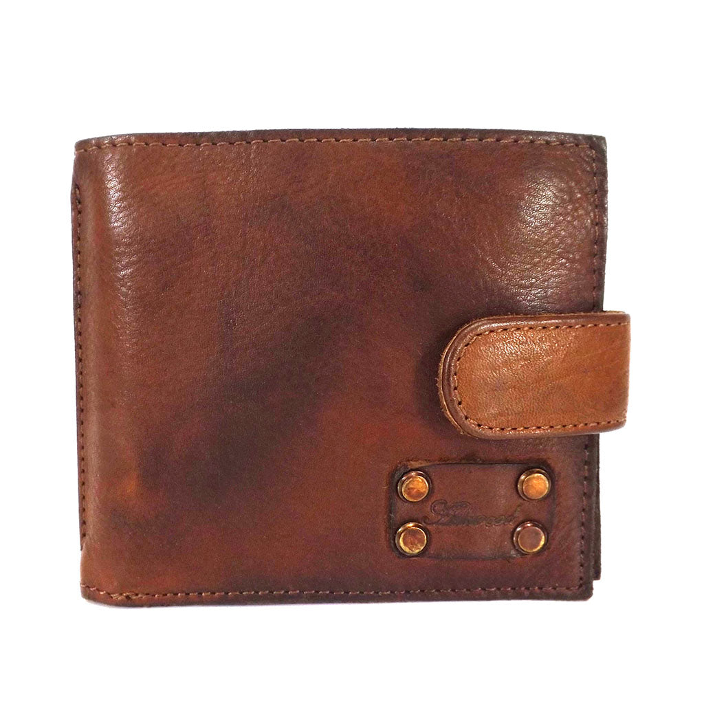 Ashwood Shoreditch Leather Tab Wallet - Style: 1780 Tan
