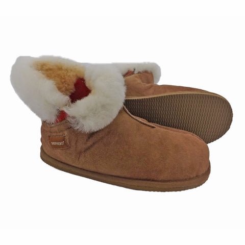 Shepherd Sheepskin Bootee Slipper - Style: Bella 2272 Antique Cognac
