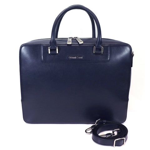Gianni Conti Leather Briefcase - Style: 2451242 - Blue