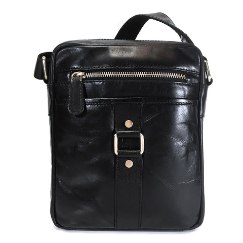 Rowallan Dortmund Leather Shoulder Bag - Style: 31-1263  Black