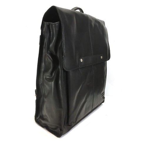 Rowallan Aviator Leather Backpack - Style: 31-1284  Black