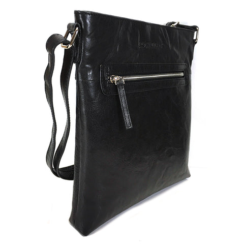 Rowallan Anderson Leather Cross Body Bag - Style: 31-1319 Black