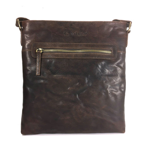 Rowallan Anderson Leather Cross Body Bag - Style: 31-1319  Brown