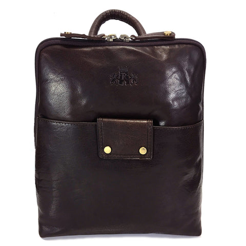 Rowallan Harrow Leather Backpack - Style: 31-1356  Brown