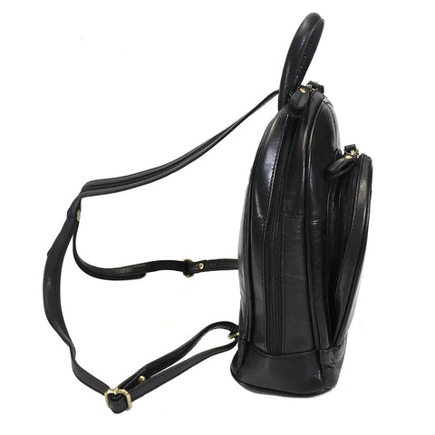 Rowallan Loreto Leather Backpack - Style: 31-7744  Black
