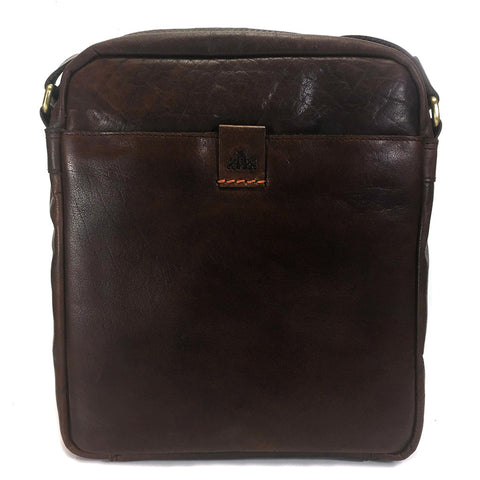 Rowallan Espana Leather Messenger Cross Body Bag - Style: 31-9799  Brown