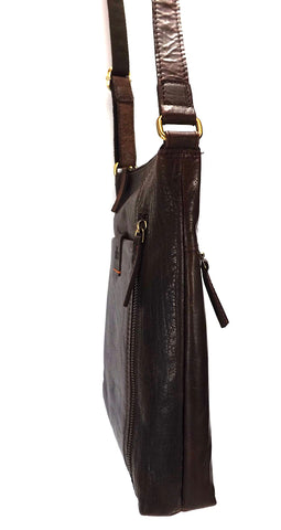 Rowallan Espana Medium Leather Messenger Cross Body Bag - Style: 31-9791  Brown