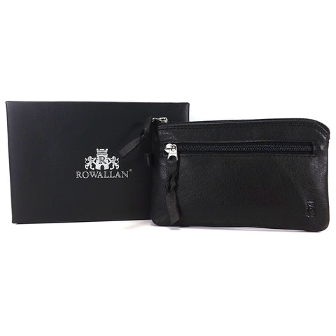 Rowallan Cossack Collection - Leather Key Case / Coin Wallet - Style 33-6078  Black