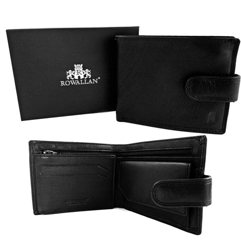 Rowallan Cossack Collection - Leather Flip out Wallet - Style 33-6083  Black