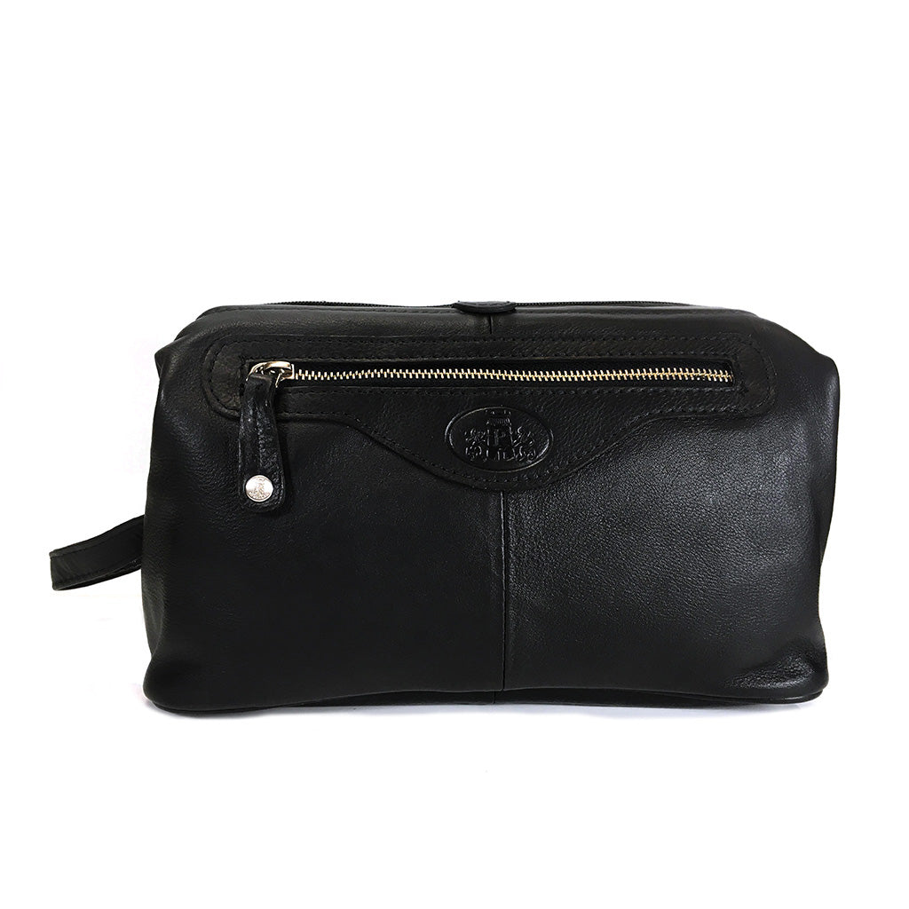 Rowallan Leather Holborn Wash Bag - Style: 33-9787 Black