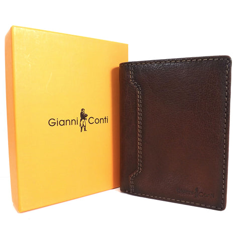 Gianni Conti Leather Wallet - Style: 4117117 Tan