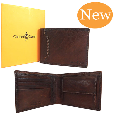 Gianni Conti Leather Wallet - Style: 4117111 Tan