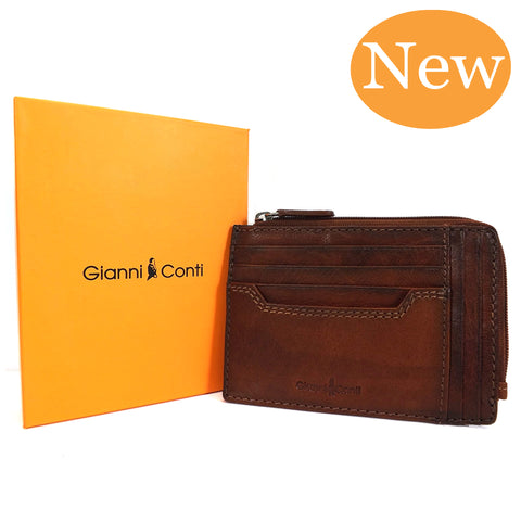 Gianni Conti Zip Round Credit Card Holder - Style: 4117194