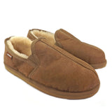 Shepherd Sheepskin  Traditional Slipper - Style: Bosse 450 - Antique Cognac