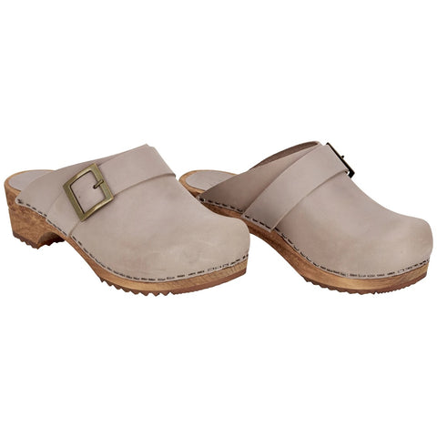Sanita Womens Wooden Clog  Urban - Grey