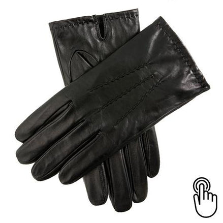 Dents Aviemore Mens Black Leather Touch Screen Gloves - Style: 5-9202