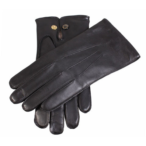 Dents Mendip Mens Wool Lined Leather Gloves with Presstud Fastening - Style: 51510