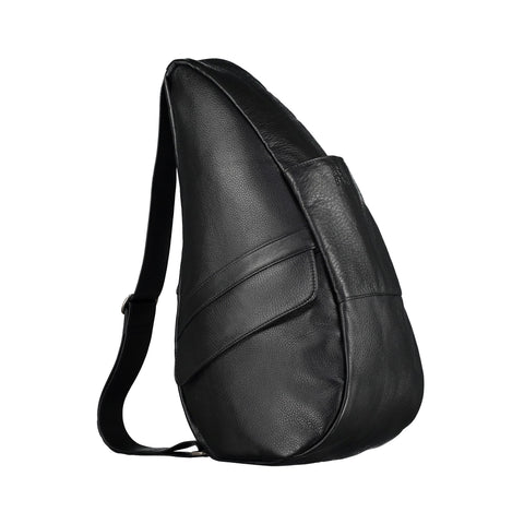 Healthy Back Bag  - Leather M  with Tech Pocket- Black - Style: 5304BK