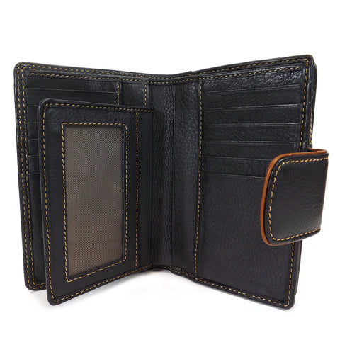 Gianni Conti Medium Wallet Purse - Style: 588356 - Black