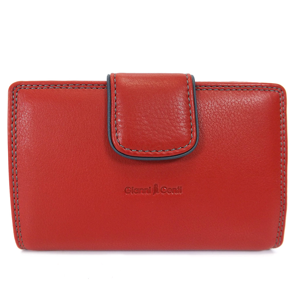 Gianni Conti Medium Wallet Purse - Style: 588356 - Red