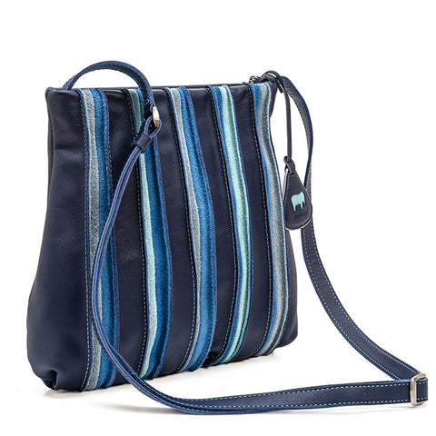 Mywalit Medium Cross Body Bag - Style 606-130 Denim