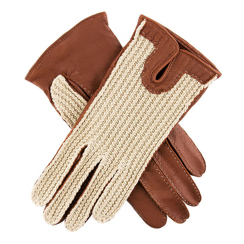 Dents Kelly Women's Crochet Back Driving Gloves - Style: 7-3000