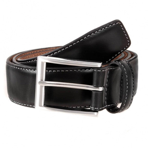 Dents - Full Grain Leather Belt - 35mm wide - Black or Brown - Style 8-1090