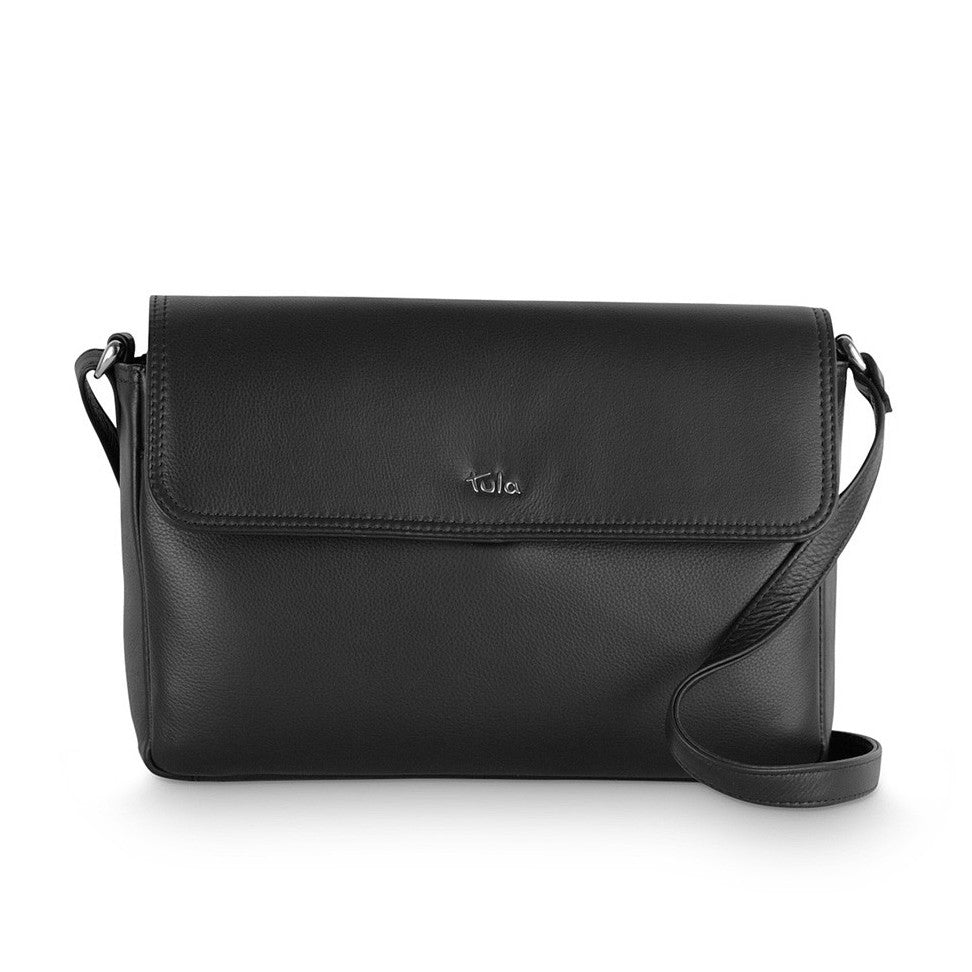 Tula Nappa Originals Small Flap Over Bag - Black - Style: 8475