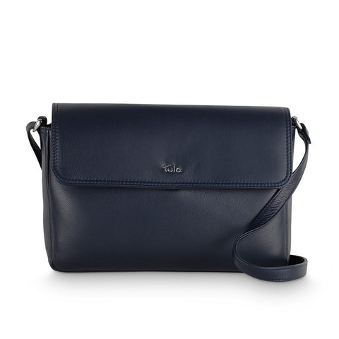 Tula Nappa Originals Small Flap Over Bag - Dark Azure (Navy) Style: 8475