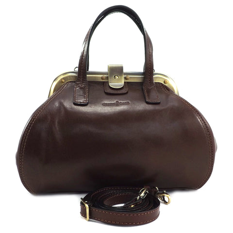 Gianni Conti Medium Gladstone Bag - Brown - Style: 9403882