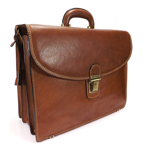 Gianni Conti Triple Gusset Briefcase - Style: 911078